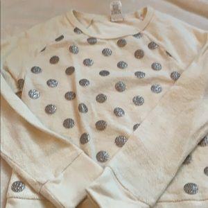 Crewcuts size 10 polka dot sweatshirt